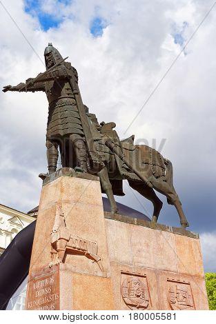 Statue Of Grand Duke Gediminas On Cathedral Square Vilnius