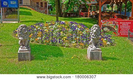 Flower Garden In Karlovy Vary