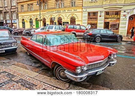 Cadillac Eldorado In Streets Of Prague