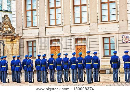 Change Of Guard Procedure In Prague Castle