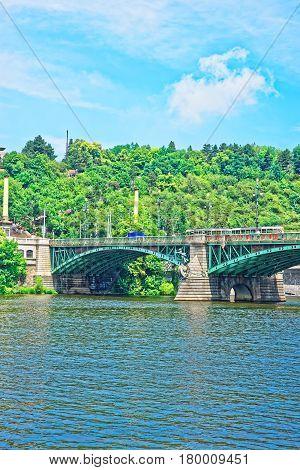 Svatopluk Cech Bridge Over Vltava River Prague