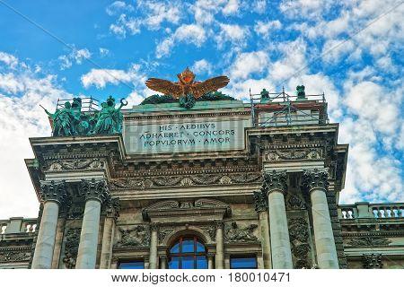 National Library Of Hofburg Palace Of Vienna
