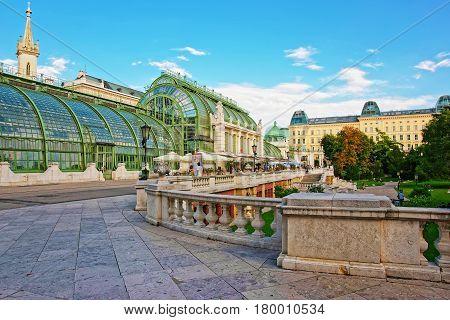 Palm House In Burggarten In Vienna In Austria