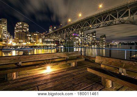 Long Bridge of Grandville Island in Vancouver