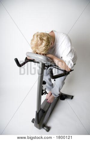 Tired Gal On Bike