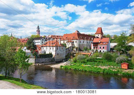 Castle And Bend Of Vltava River Of Cesky Krumlov