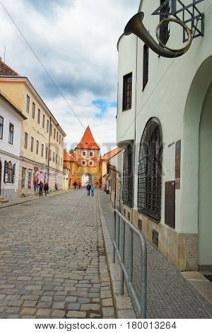 Entrance Tower Gate Into City Of Cesky Krumlov