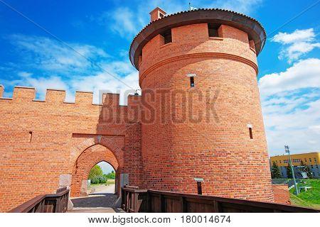 Entrance Into Malbork Castle In Pomerania Poland