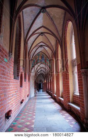 Malbork, Poland - May 8, 2014: Interior of Malbork Castle also called as Marienburg Teutonic Order Pomerania Poland.