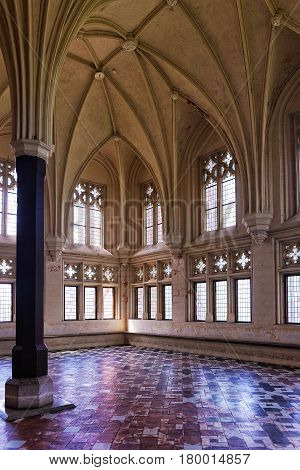 Interior Of Malbork Castle In Poland