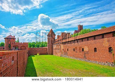 Malbork, Poland - May 8 2014: Malbork Castle also called as Marienburg Teutonic Order Pomerania province in Poland.