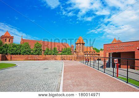 Malbork, Poland - May 8 2014: Malbork Castle also called as Marienburg Teutonic Order at Pomerania province in Poland.