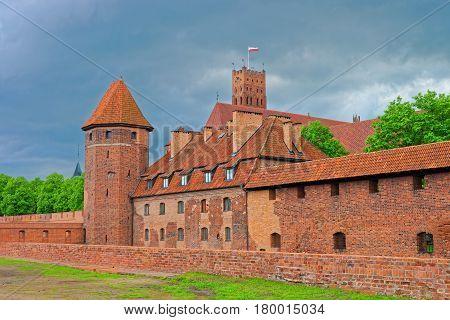 Malbork Castle Of Pomerania In Poland