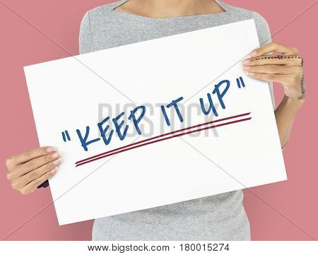 Keep Fighting Motivation Word Message