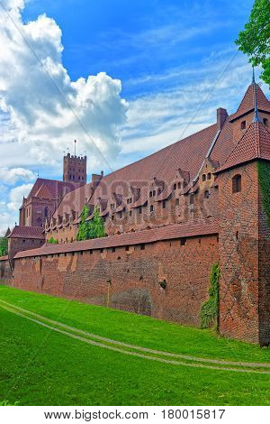 Walls Of Malbork Castle Poland