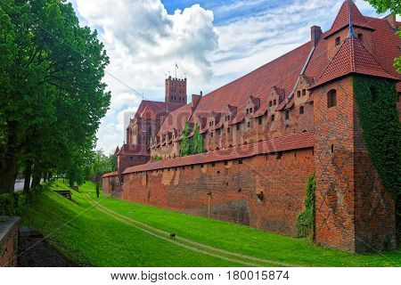 Walls Of Malbork Castle Of Poland