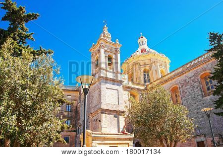 Saint Paul Cathedral in Mdina Malta Island