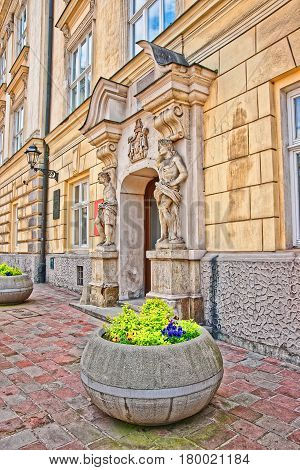 Cervantes Institute In The Old Town In Krakow