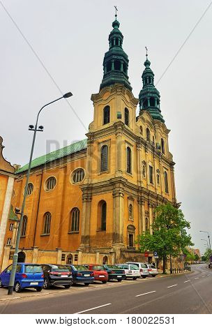 St Francis Assisi Church In City Center Of Poznan