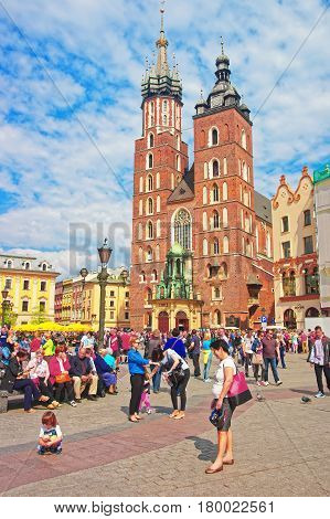 St Mary Basilica In Krakow