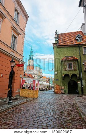 Street View On Old Town Hall On Market Square Poznan