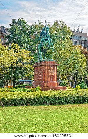 Sculpture Of Francis Rakoczi In Budapest