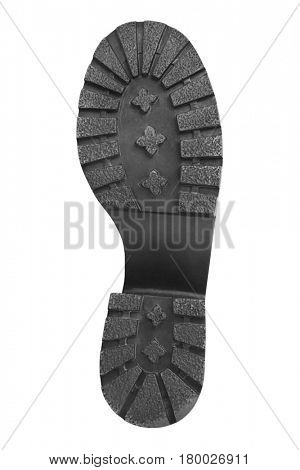 Bottom of shoes isolated on white background
