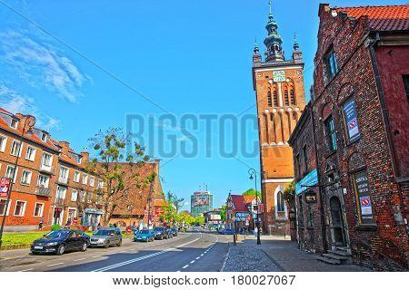 St Catherine Church In City Center Of Gdansk