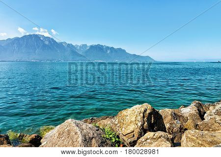 Nature Of Geneva Lake Riviera In Montreux