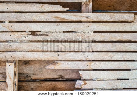 urban decay background - interior wall of abandoned house with wooden planks