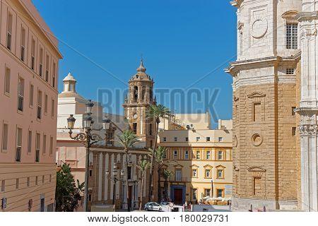 Church Of Santiago In Cadiz