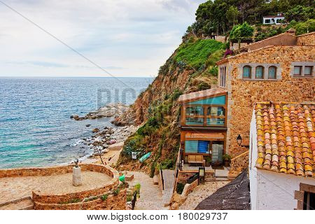 Coast Of Tossa De Mar On Costa Brava Mediterranean Sea