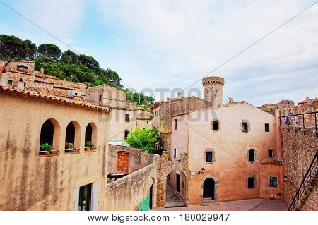 Medieval Tower Of Fort And Town In Tossa De Mar