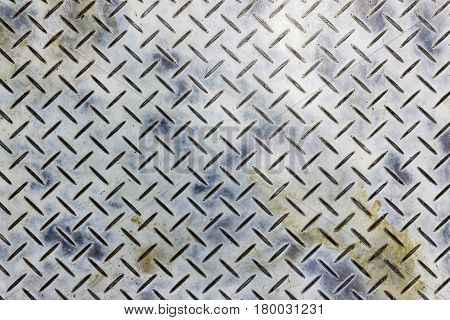 The dirty emboss metal plate for anti-slip reason background