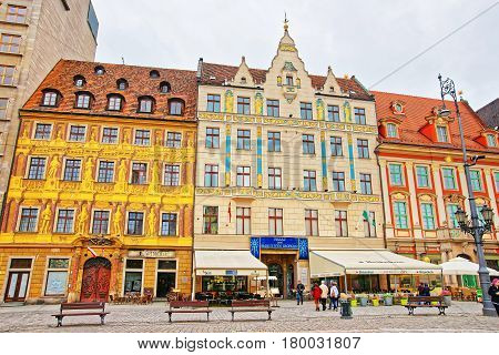 People At Market Square Of Wroclaw