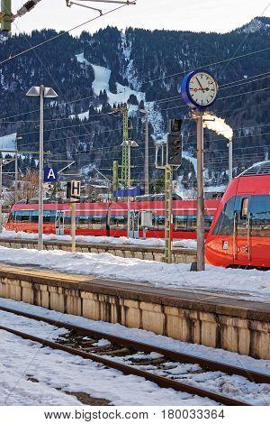 High Speed Trains In Garmisch Partenkirchen
