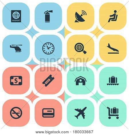 Vector Illustration Set Of Simple Transportation Icons. Elements Credit Card, Antenna, Certificate Of Citizenship And Other Synonyms Plastic, Coupon And Certificate.