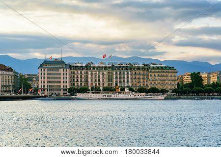 White Ferry On Geneva Lake Geneva Switzerland