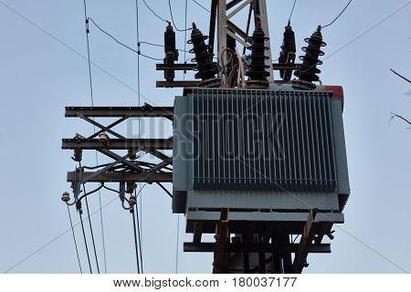 Ariel - 03 January 2017: Electrical Pole In Ariel, Israel