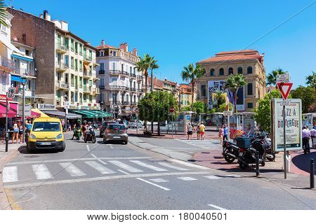 Street Scene In Cannes, France