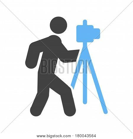 Photo, photographer, camera icon vector image. Can also be used for city lifestyle. Suitable for use on web apps, mobile apps and print media.