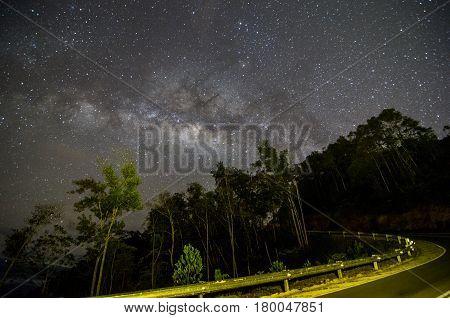 Chasing the stunning milky way located Telipok Hilll, Sabah Borneo, Malaysia