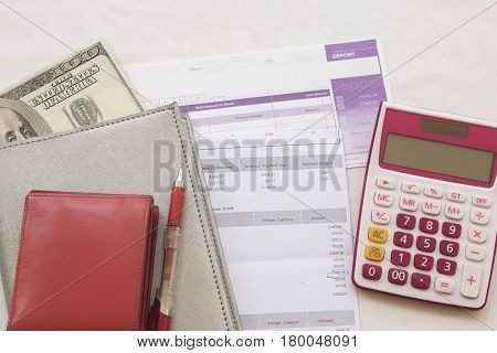 document monthly record expense credit card accounting