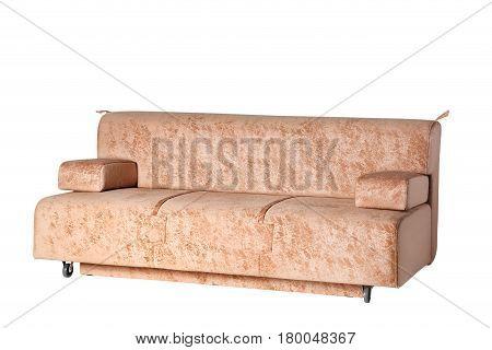 sofa furniture isolated on white background, closup