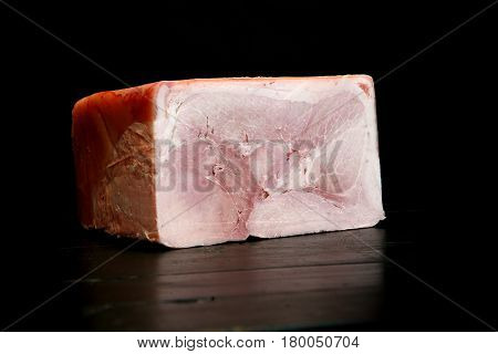 A piece of delicious pink ham