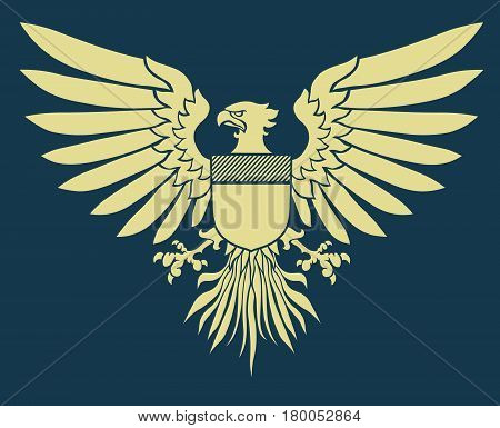 Vector illustration of coat-of-arms shield with Medieval Eagle of my own design