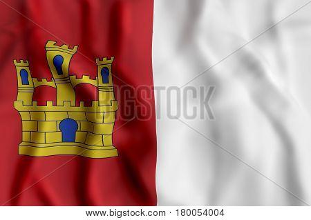 Castilla La Mancha Flag Waving
