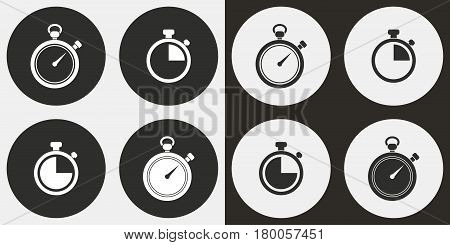 Stopwatch vector icons set. Illustration isolated for graphic and web design.