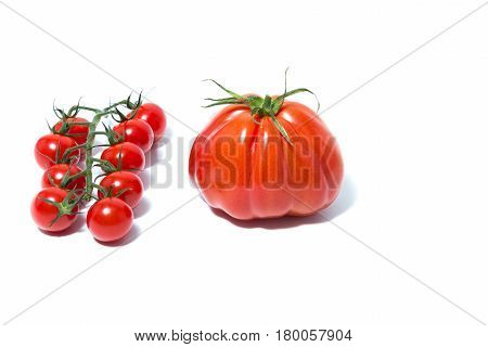 Goldman's Italian-american Tomato And Cherry Tomatoes Isolated On White Background