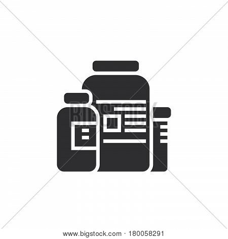 nutritional supplements icon vector solid flat sign pictogram isolated on white logo illustration
